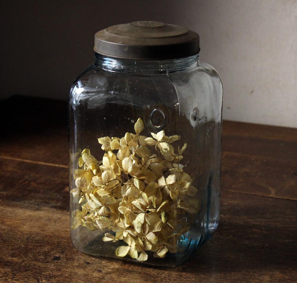 とろとろガラスの古い海苔瓶