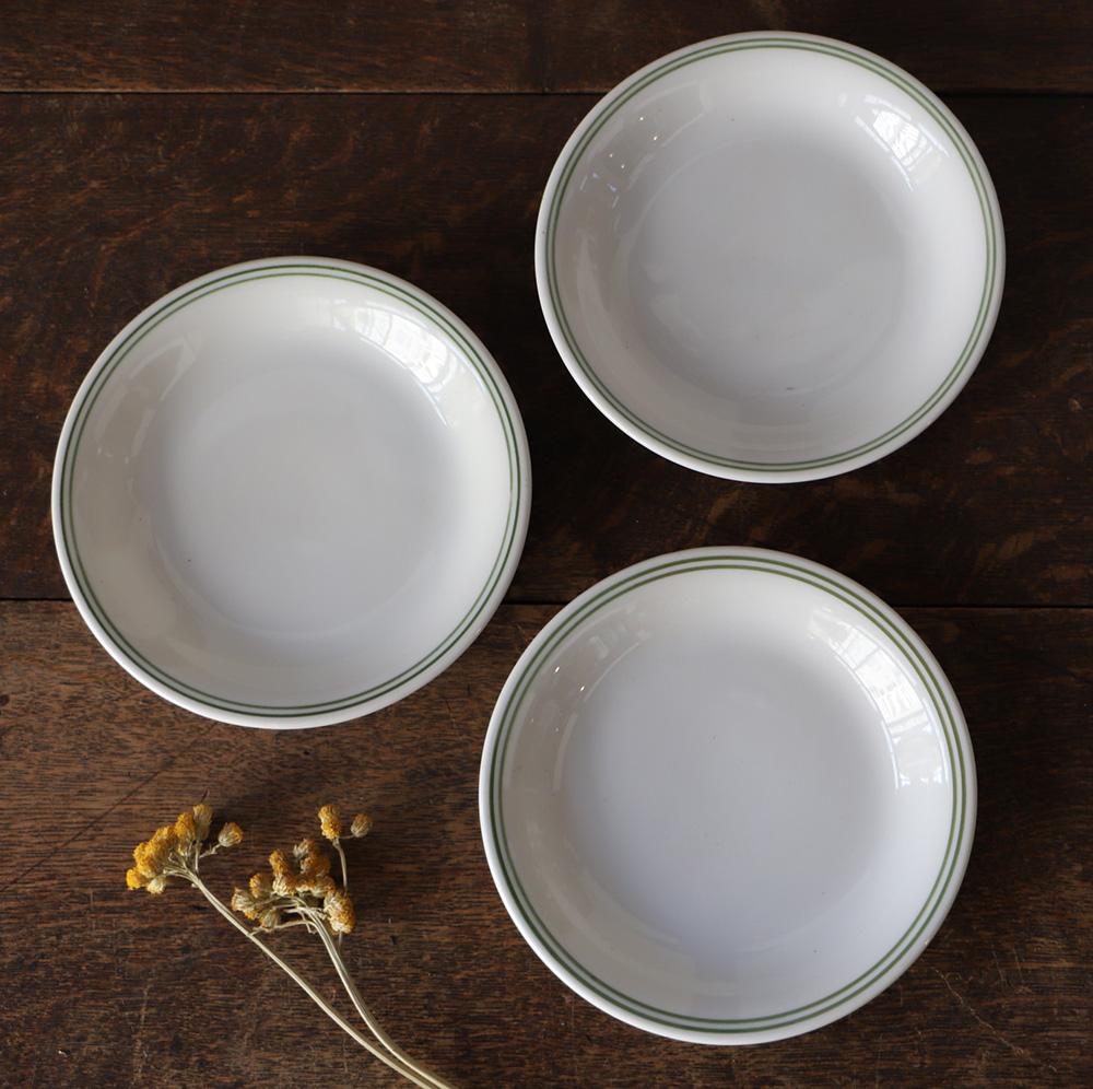 [統制陶器]オールドノリタケのグリーンラインの小皿