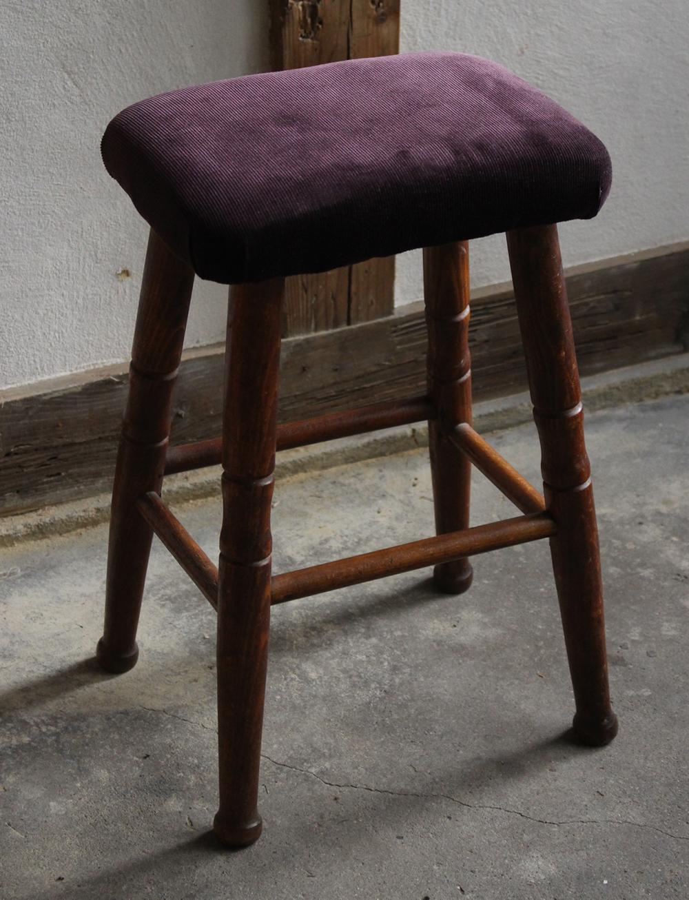 パーブルの布張りミシン椅子・スツール