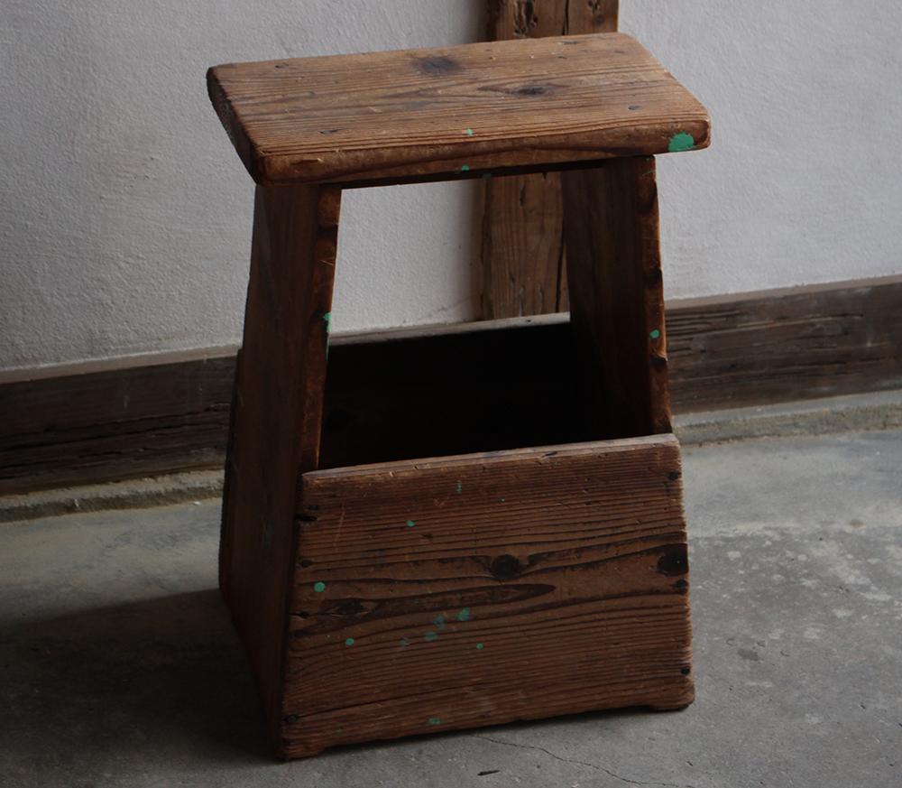 木製の脚立・スツール 椅子としても