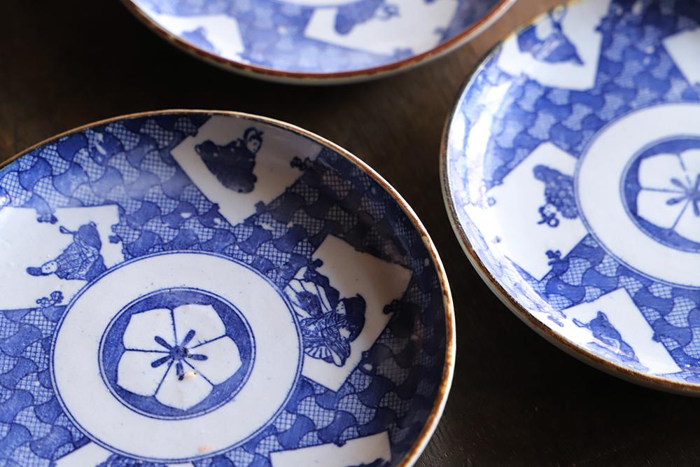 【図変わり】六歌仙の5寸印判皿