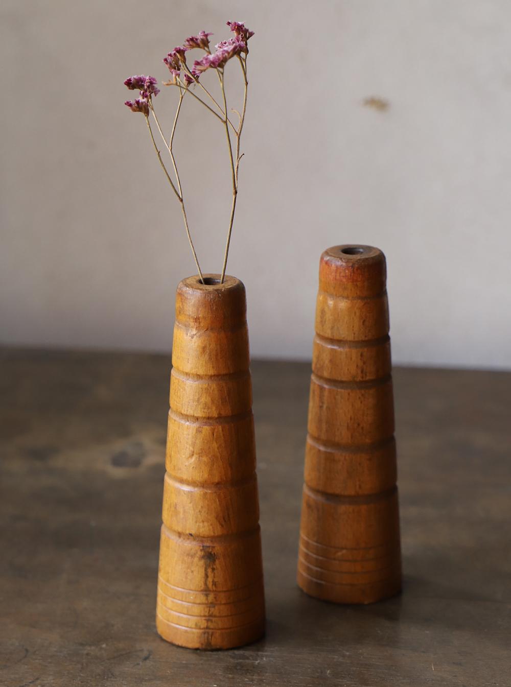 飴色の木製糸巻き