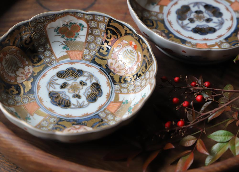 【通り物】繊細な絵付けが美しい伊万里焼の色絵の膾皿